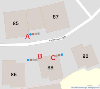 Karta över sopnedkast